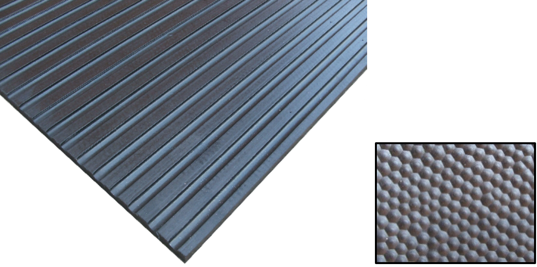 BROAD RIB MAT – RUBBER